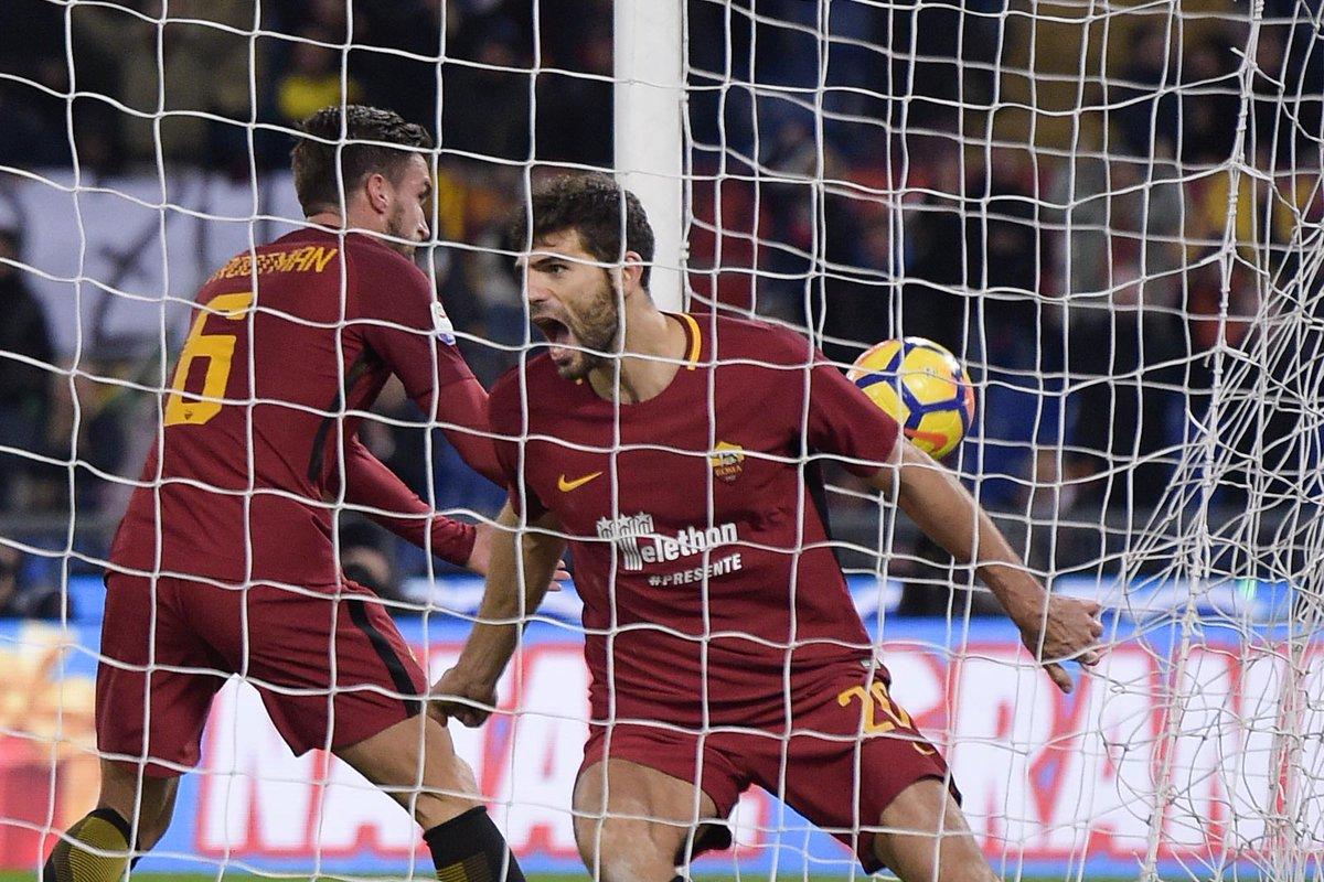 أهداف مباراة روما وكالياري 1-0 الدوري الإيطالي