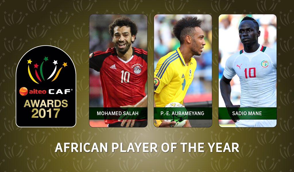 الكشف عن الثلاثي المرشح لجائزة أفضل لاعب في إفريقيا لعام 2017