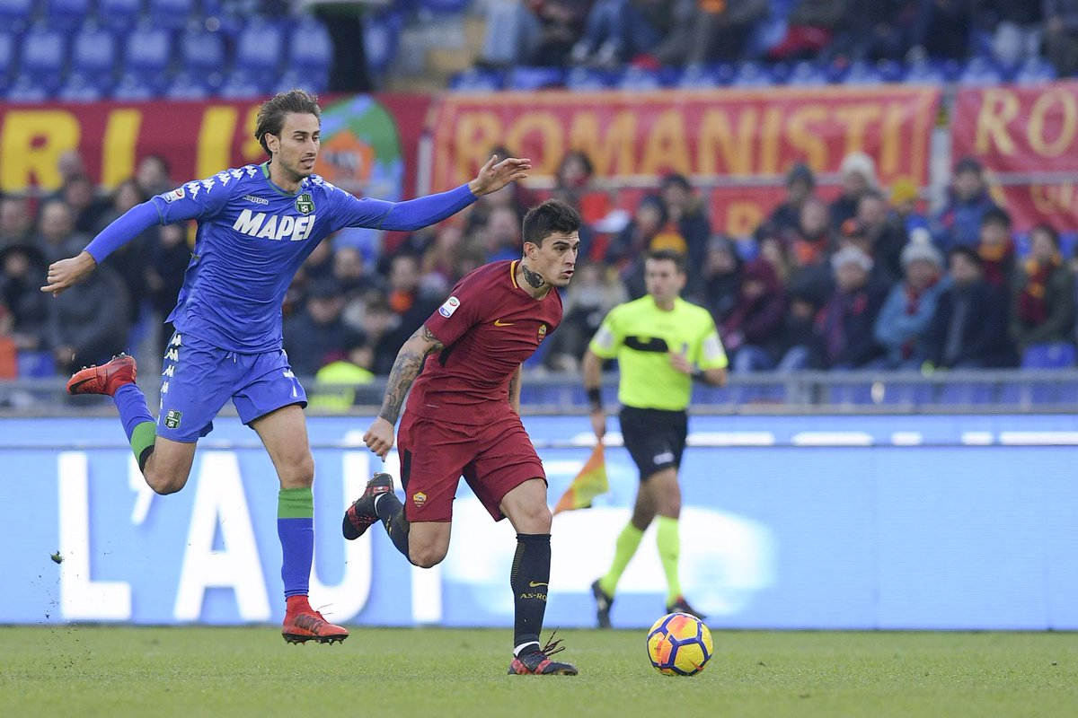 أهداف مباراة روما وساسولو 1-1 الدوري الإيطالي