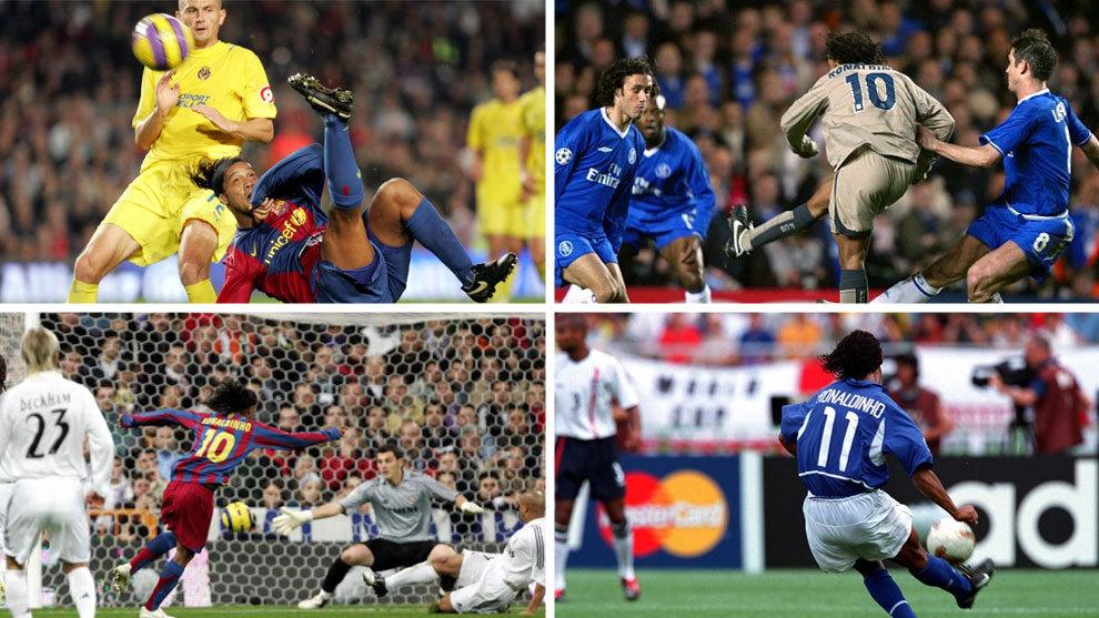 """بعد اعتزاله كرة القدم ،،، إليكم أجمل أهداف """"رونالدينيو"""""""