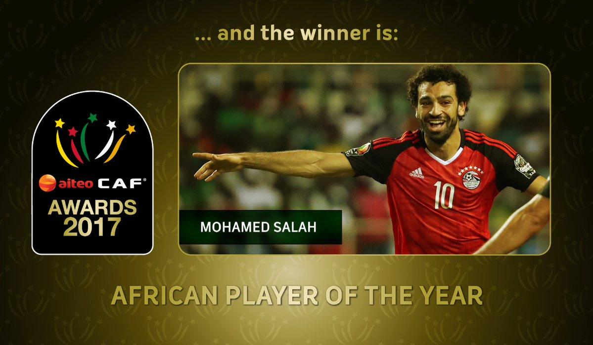 عاجل ورسمياً … محمد صلاح أفضل لاعب في أفريقيا لعام 2017