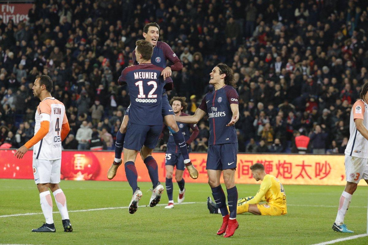 أهداف مباراة باريس سان جيرمان ومونبيليه 4-0 الدوري الفرنسي