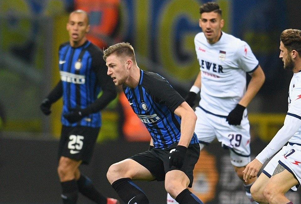 أهداف مباراة إنتر ميلان وكروتوني 1-1 الدوري الإيطالي