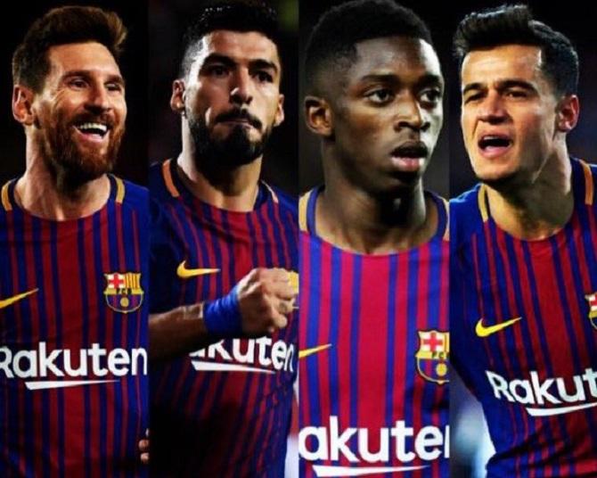 أرقام مرعبة لرباعي برشلونة في ظهورهم الأول