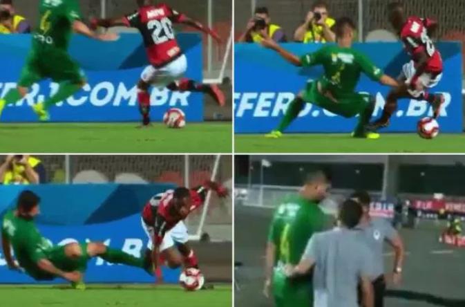 شاهد: هكذا تسبب موهبة ريال مدريد بإصابة مدافع الفريق الخصم