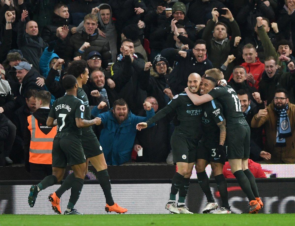 أهداف مباراة مانشستر سيتي وستوك سيتي 2-0 الدوري الإنجليزي