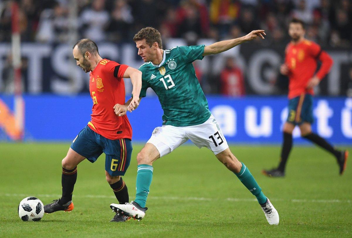 أهداف مباراة ألمانيا وإسبانيا 1-1 مباراة ودية