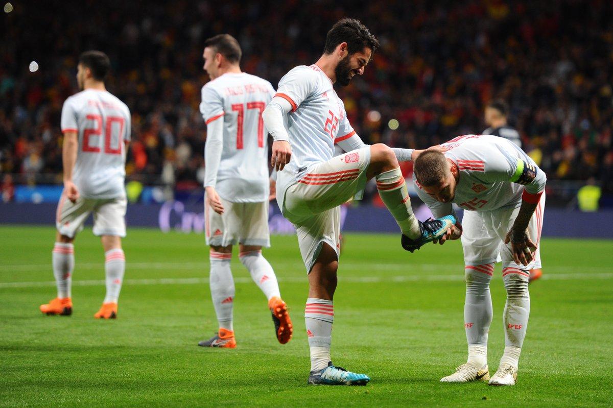 أهداف مباراة إسبانيا والأرجنتين 6-1 مباراة ودية