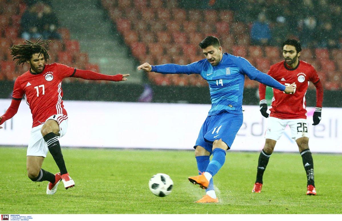 أهداف مباراة مصر واليونان 0-1 مباراة ودية