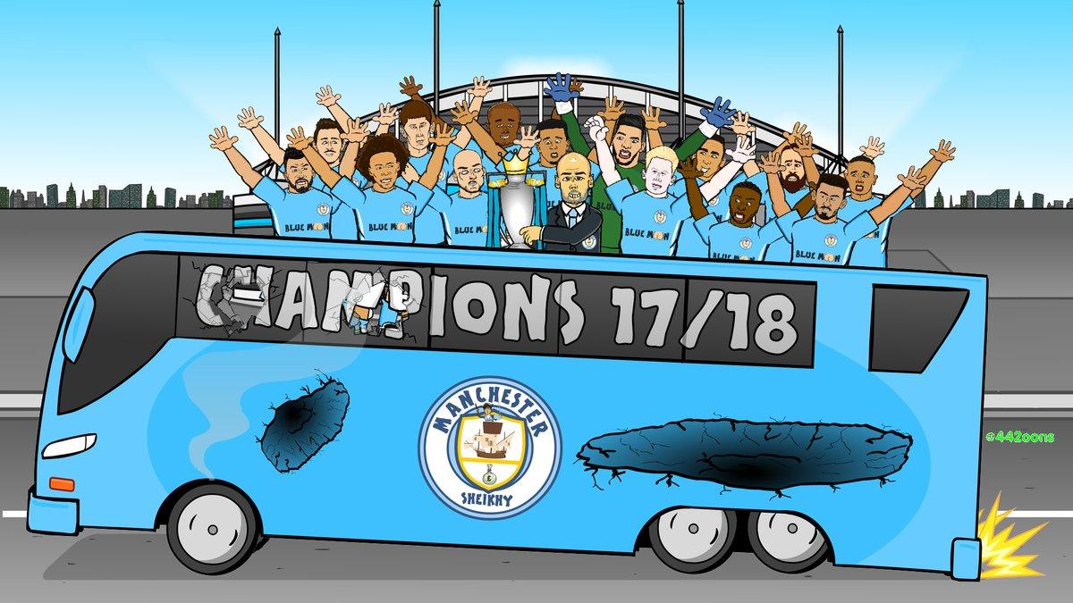 رسمياً … مانشستر سيتي بطلاً للدوري الإنجليزي للموسم الحالي 2017/2018