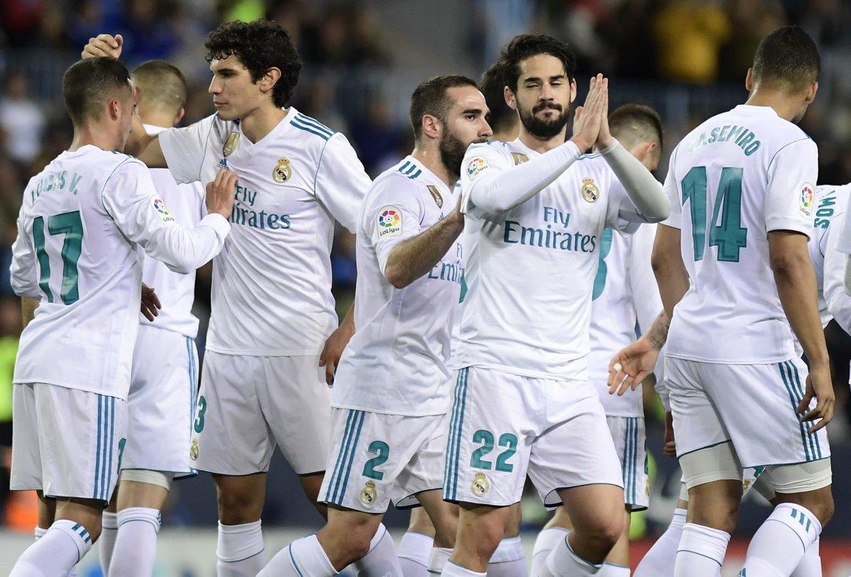 أهداف مباراة ريال مدريد وملقه 2-1 الدوري الإسباني