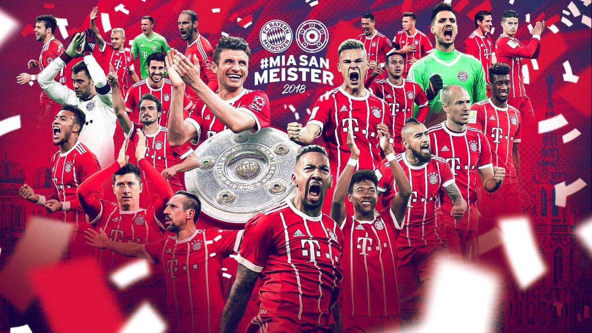 عاجل ورسمياً …. بايرن ميونخ يتوج بلقب الدوري الألماني للمرة الـ 28 في تاريخه