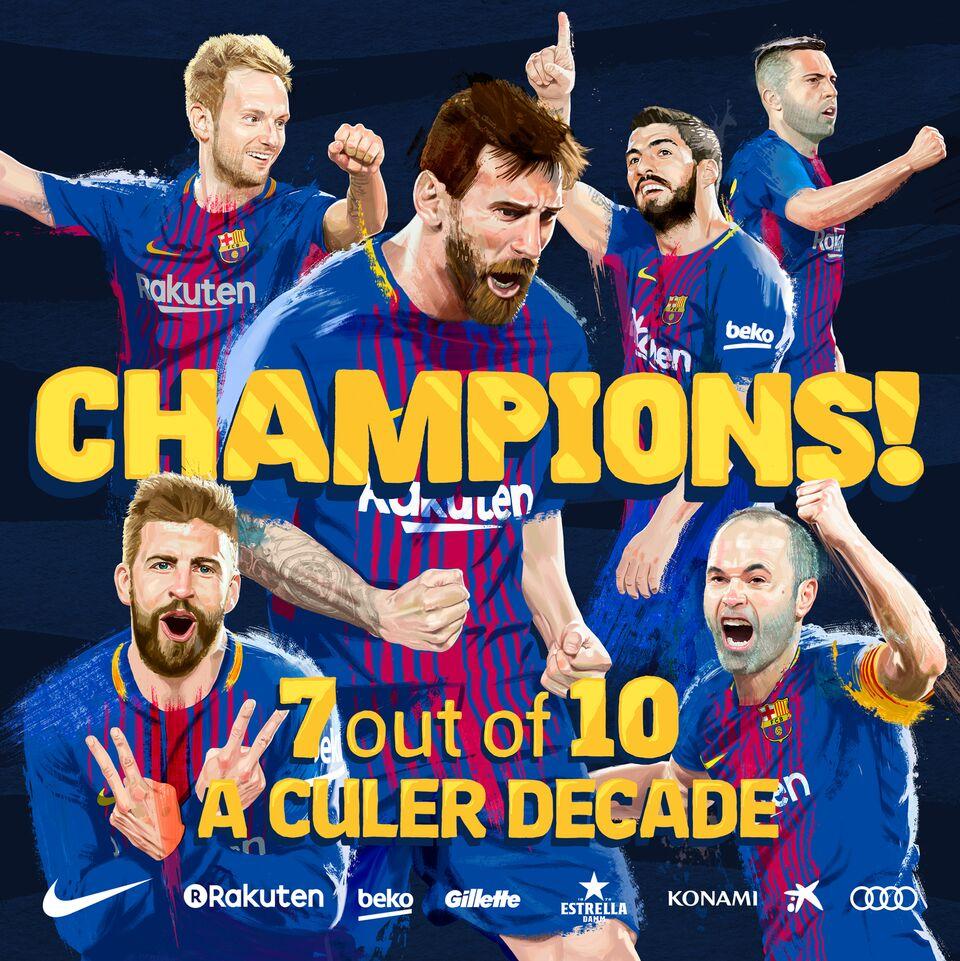 رسمياً بالفيديو: برشلونة بطلاً للدوري الإسباني للمرة الـ 25 في تاريخه