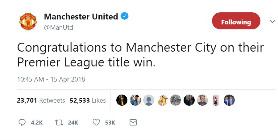 تغريدة مانشستر يونايتد على تويتر تغضب جماهيره !