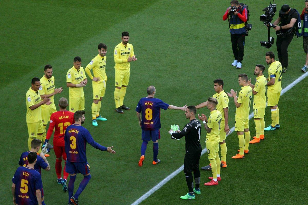 شاهد … فياريال يحرج ريال مدريد بإقامة ممر شرفي لبرشلونة