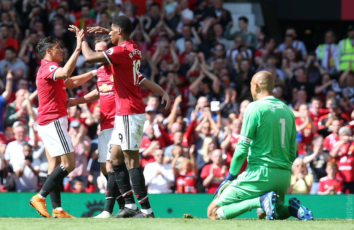 أهداف مباراة مانشستر يونايتد وواتفورد 1-0 الدوري الإنجليزي