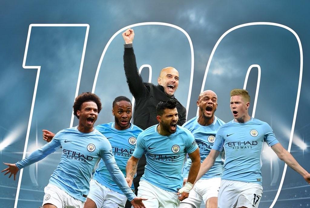 مانشستر سيتي أول فريق يحقق 100 نقطة بموسم واحد في الدوري الإنجليزي