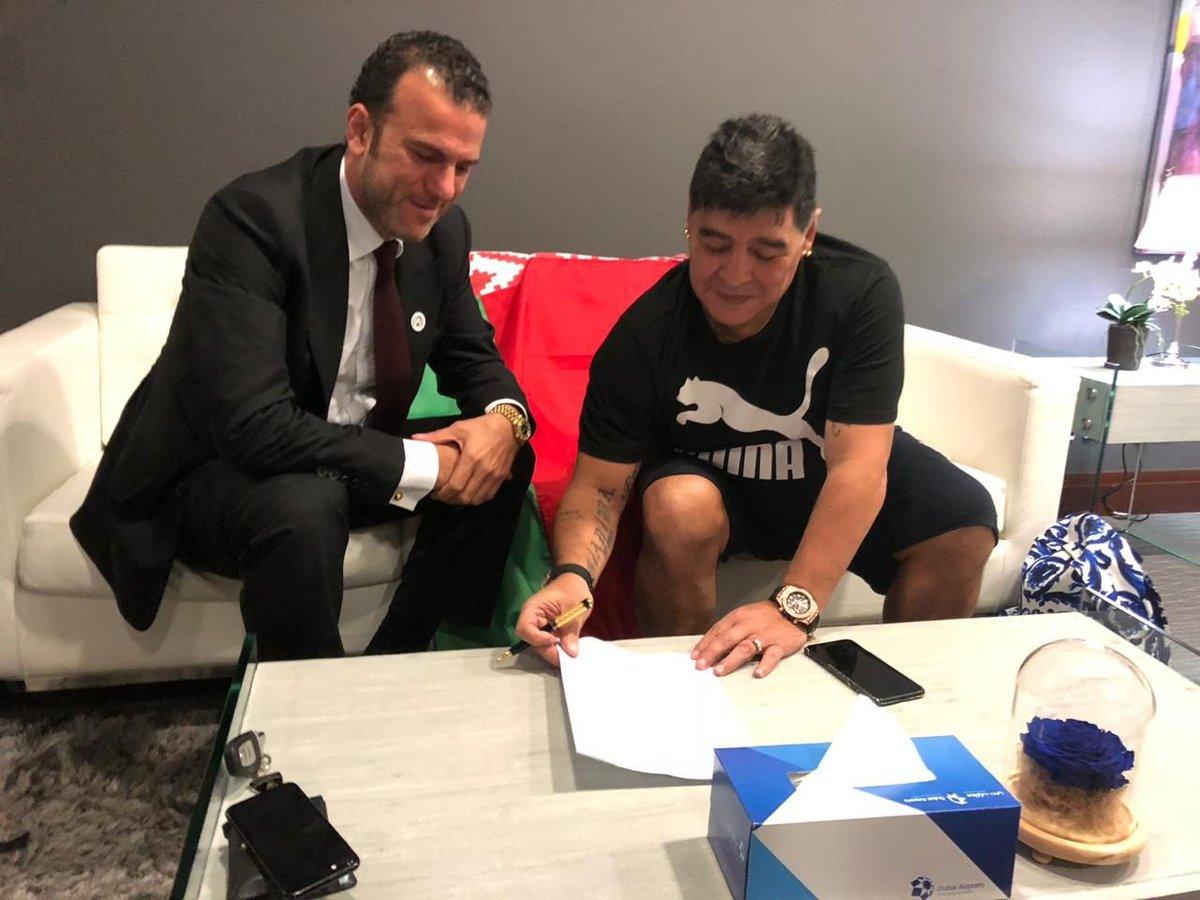 رسمياً … مارادونا سيكون مدرباً ورئيساً لفريق بيلاروسي