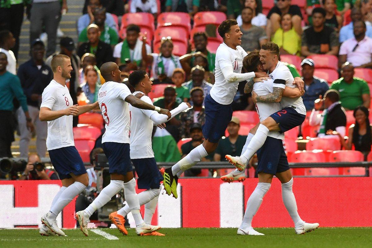 أهداف مباراة إنجلترا ونيجيريا 2-1 مباراة ودية