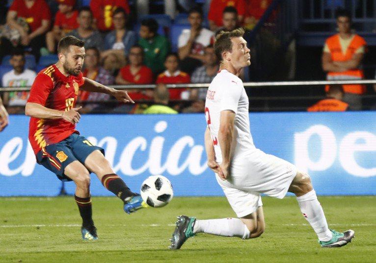 أهداف مباراة إسبانيا وسويسرا 1-1 مباراة ودية