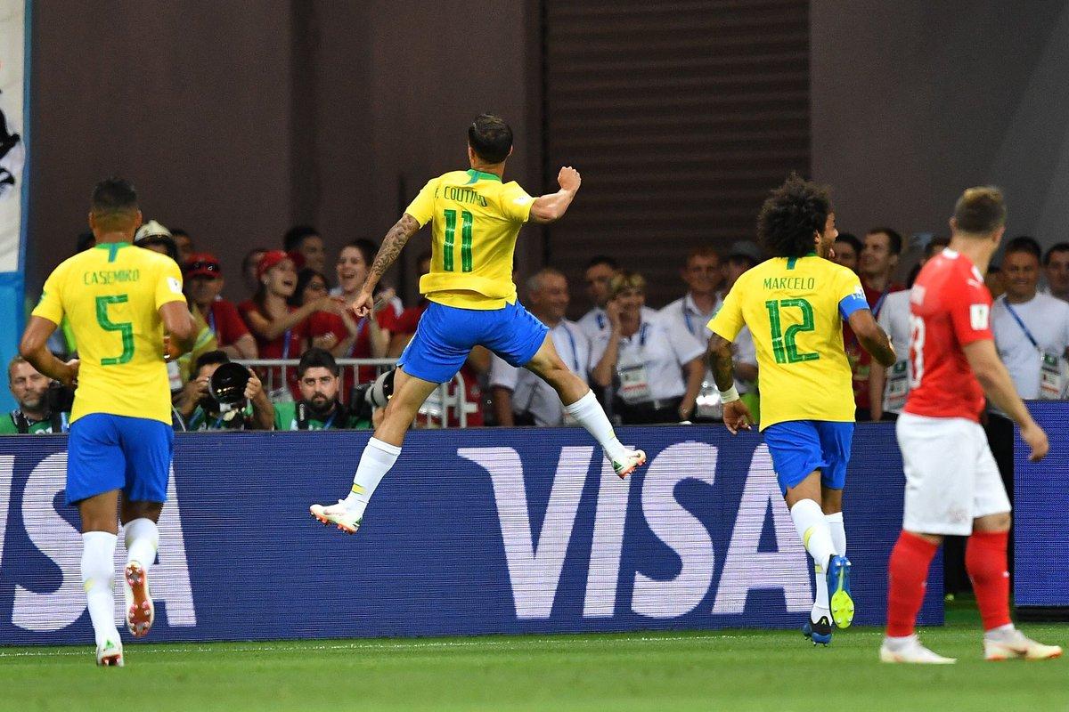 أهداف مباراة البرازيل وسويسرا 1-1 كأس العالم 2018