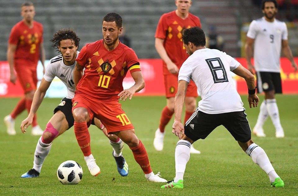 أهداف مباراة بلجيكا ومصر 3-0 مباراة ودية