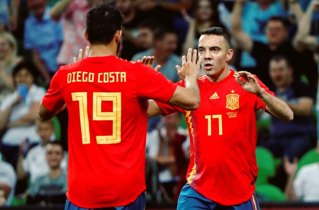 أهداف مباراة إسبانيا وتونس 1-0 مباراة ودية