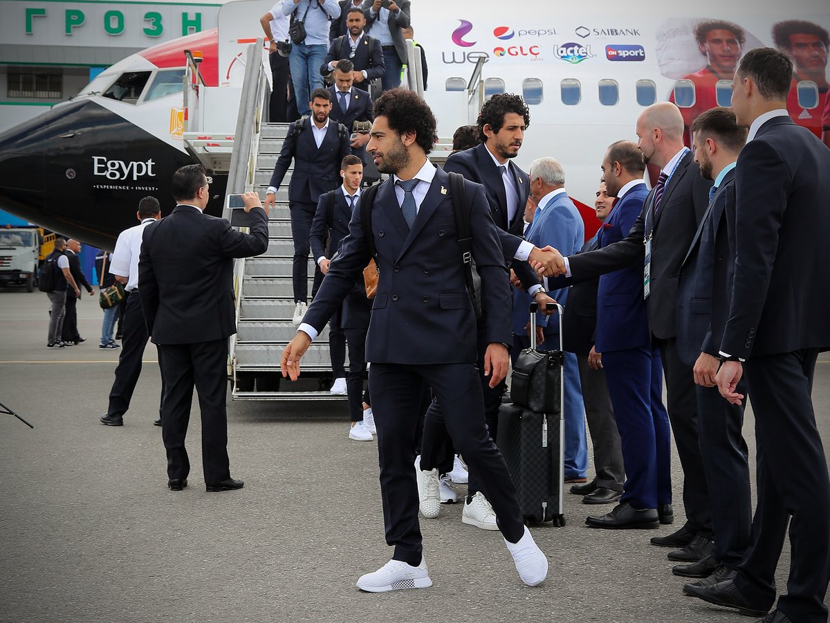شاهد … وصول المنتخب المصري لروسيا للمشاركة بكأس العالم