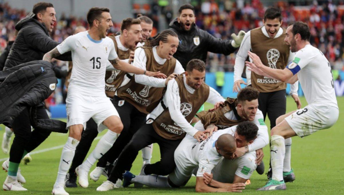 أهداف مباراة الأوروجواي ومصر 1-0 كأس العالم 2018