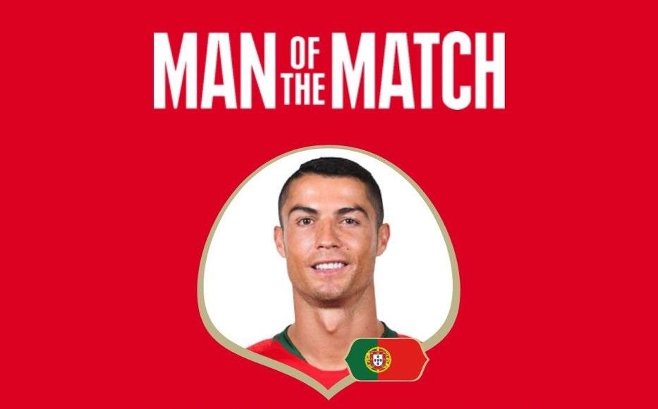 رسمياً … كريستيانو رونالدو رجل مباراة البرتغال والمغرب