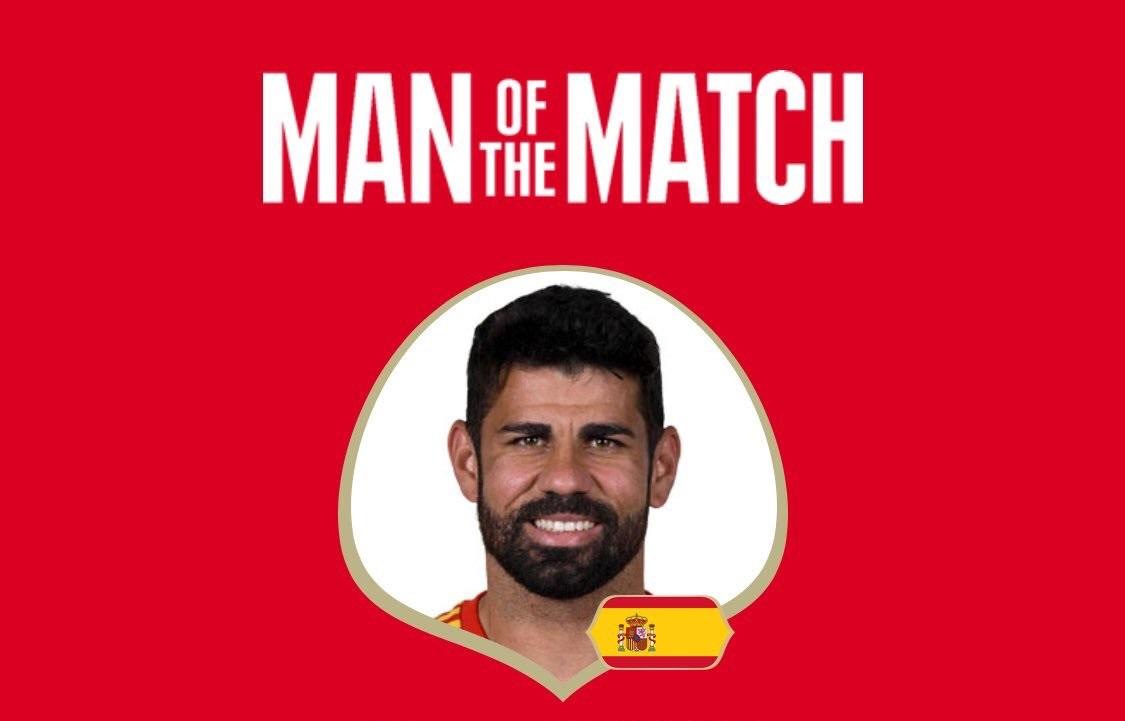 رسمياً … كوستا رجل مباراة إسبانيا وايران