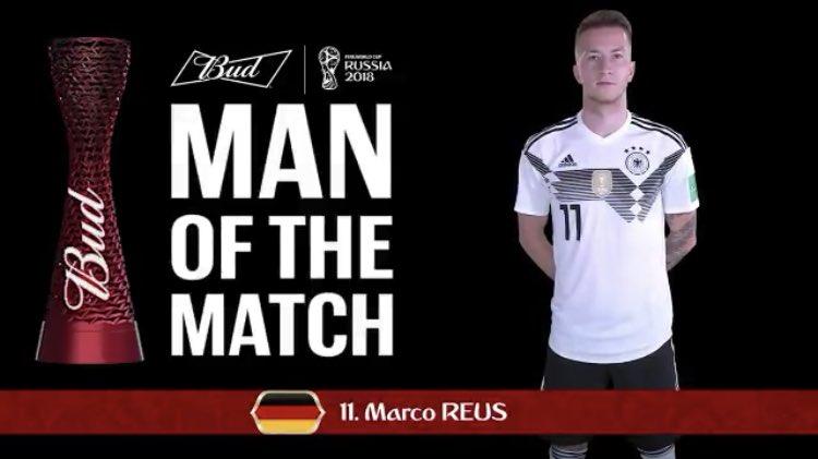 رسمياً … ماركو رويس رجل مباراة ألمانيا والسويد