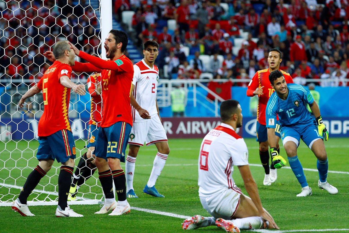 أهداف مباراة المغرب وإسبانيا 2-2 كأس العالم 2018