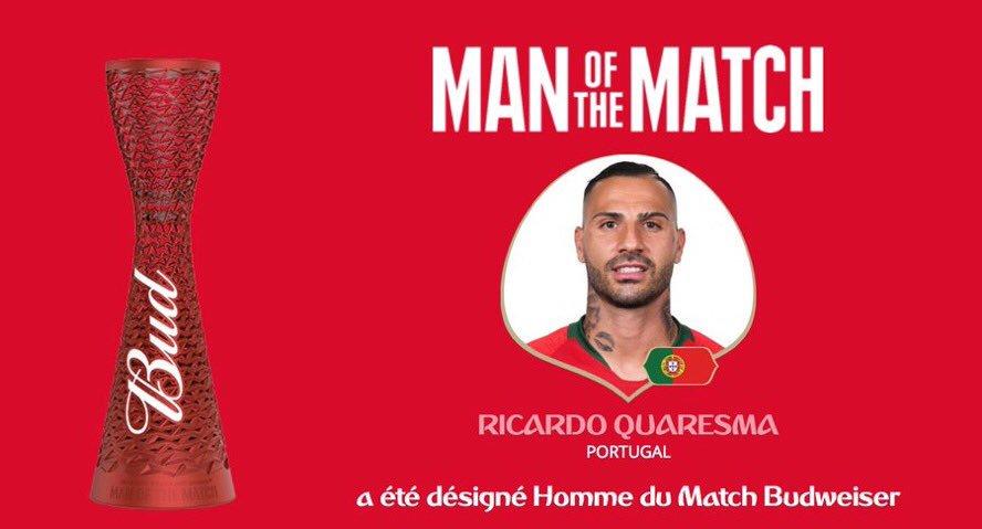 رسمياً … ريكاردو كواريزما رجل مباراة البرتغال وإيران