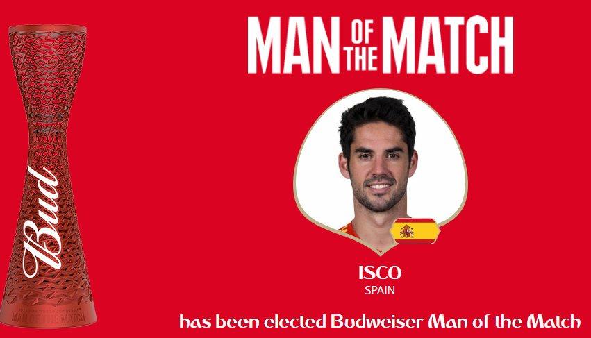 رسمياً … إيسكو رجل مباراة إٍسبانيا والمغرب
