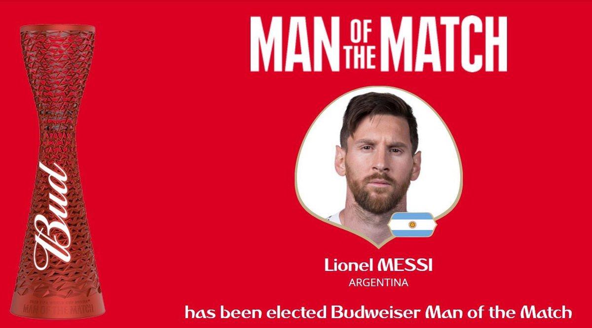 رسمياً … ليونيل ميسي رجل مباراة الأرجنتين ونيجيريا
