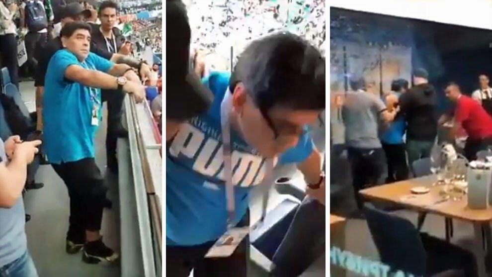 شاهد … نقل مارادونا إلى المستشفى بعد فوز الأرجنتين