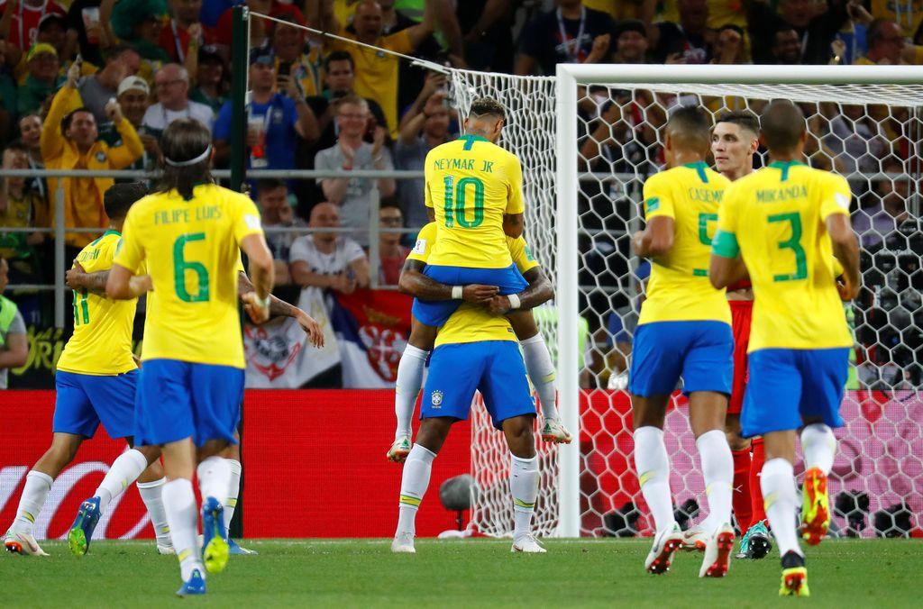 أهداف مباراة البرازيل وصربيا 2-0 كأس العالم 2018