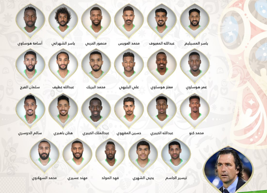 رسمياً … تعرف على قائمة السعودية النهائية لمونديال روسيا