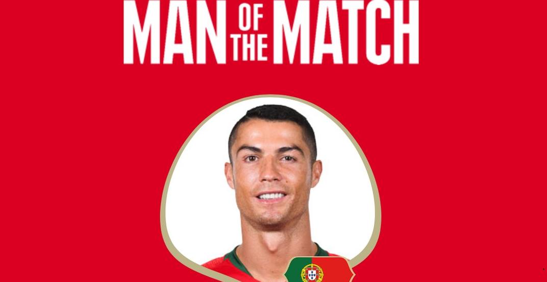 رسمياً … كريستيانو رونالدو رجل مباراة إسبانيا والبرتغال