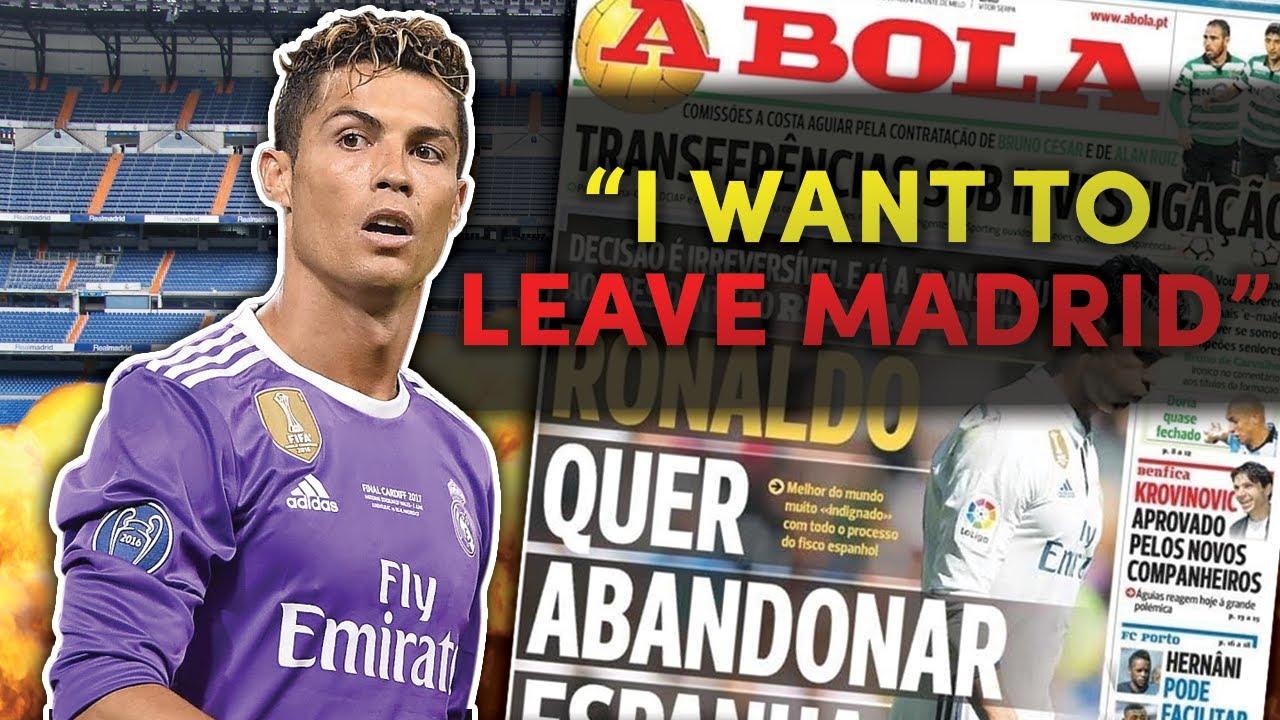 صدمة ،،، كريستيانو رونالدو يخبر زملاءه برحيله عن ريال مدريد