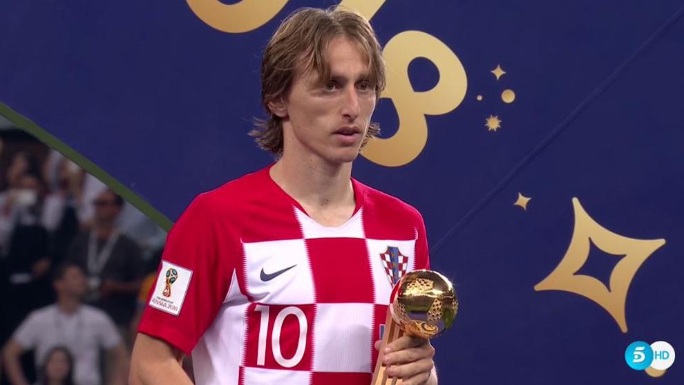 رسمياً … لوكا مودريتش أفضل لاعب فى كأس العالم 2018