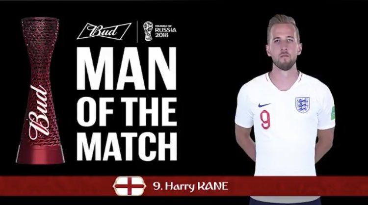 رسمياً … هاري كين رجل مباراة إنجلترا وكولومبيا