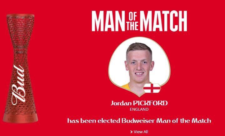 رسمياً … الحارس بيكفورد رجل مباراة إنجلترا والسويد