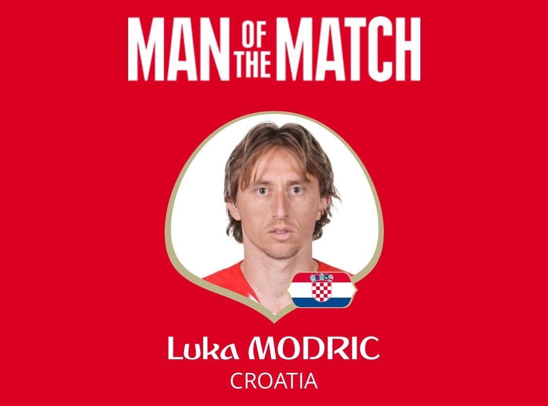 رسمياً … لوكا مودريتش رجل مباراة كرواتيا وروسيا