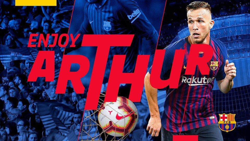رسمياً … برشلونة يضم أرثر من جريميو