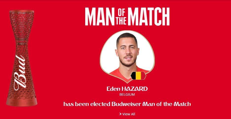 رسمياً … هازارد رجل مباراة بلجيكا وإنجلترا