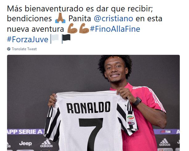كوادرادو يودع القميص رقم 7 ويعلن منحه لكريستيانو رونالدو