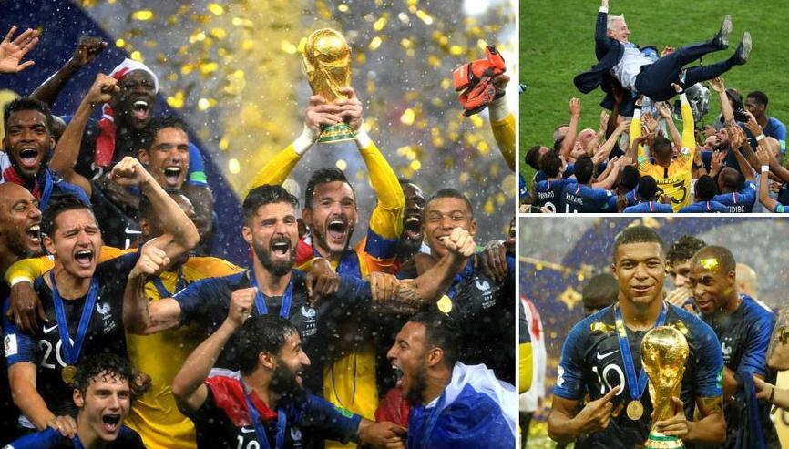 بالفيديو: فرنسا يتوج بلقب كأس العالم 2018 على حساب كرواتيا