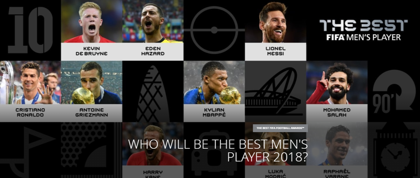 عاجل – المرشحين العشرة لنيل جائزة The Best لعام 2018